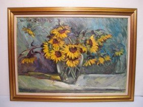 DULCE BEATRIZ OIL PAINTING: SUNFLOWERS