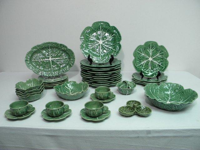 67 bordallo pinheiro cabbage partial dinnerware serv lot 67 - Bordallo pinheiro portugal ...