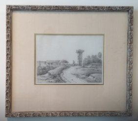 Italian Pencil Drawing 19th Century