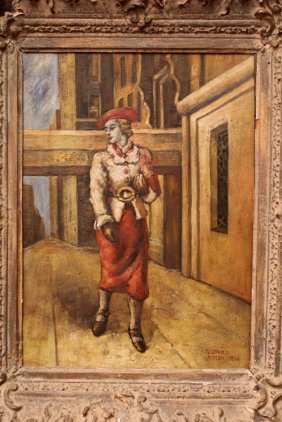 Oil Painting Signed Reginald Marsh
