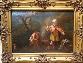 Old Master Painting Sacrifice Of Isaac