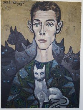 Carlos Bastos Brazil Modernist Mid-century Cats Bahia