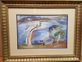 Jean Albert Pougny (1892-1956) St. Tropez Painting