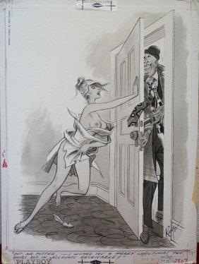 John Ruge Playboy Magazine Illustration Cartoon