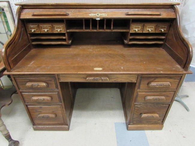 Mark Wayne Roll Top Desk Lot 420