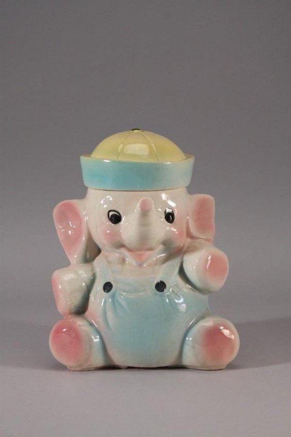 Vintage elephant pottery cookie jar lot 7 - Vintage elephant cookie jar ...