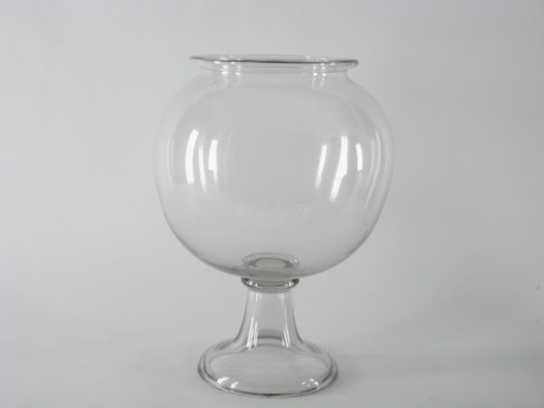 1020 antique blown glass fish bowl on stand lot 1020 for Fish bowl stand
