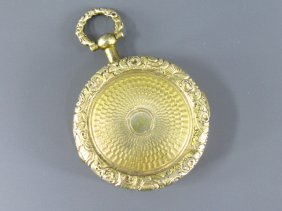 GILT SILVER WATCH FORM VINAIGRETTE
