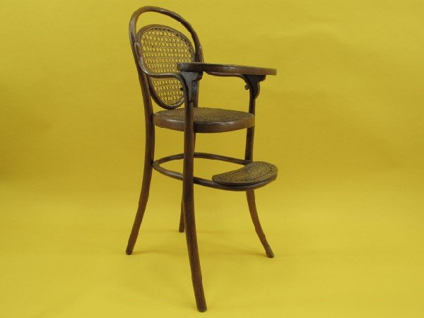 Marvelous ... Bentwood High Chair By Austrian Bentwood High Chair Signed Thonet Lot  288 ...