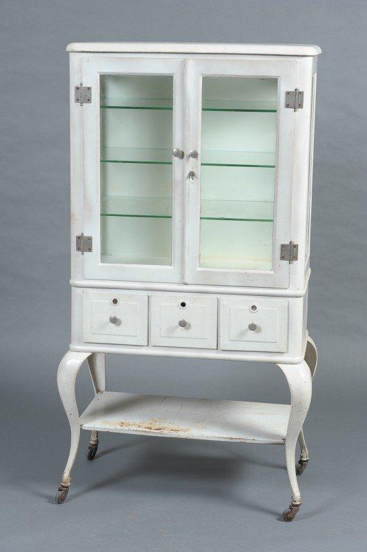 vintage metal medical cabinet 2
