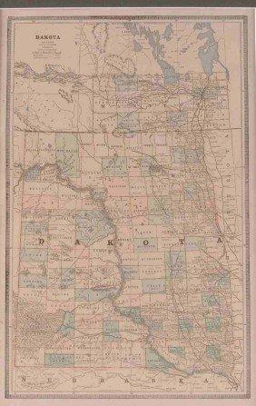 AN 1885 DAKOTA MAP BY GEO. F. CRAM