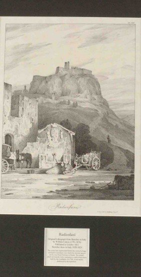 THREE WILLIAM LINTON 19TH C. LITHOGRAPHS OF ITALY