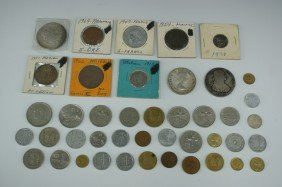 LOT OF VINTAGE FOREIGN COINS