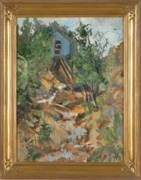 ROSE MARIE DANIELS (1925 -  COLORADO) OIL ON CANVAS BOA