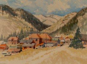 PAULINE HAYES SHIRER (1894 - 1975 KS) COLORADO SCENE WA