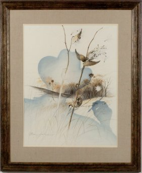 FREDERIC JAMES (1915 - 1985) WATERCOLOR ON PAPER