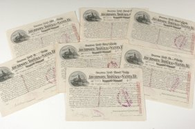 Fifty-One AT&SF RR Gold Bond Scrip Certificates, 1890