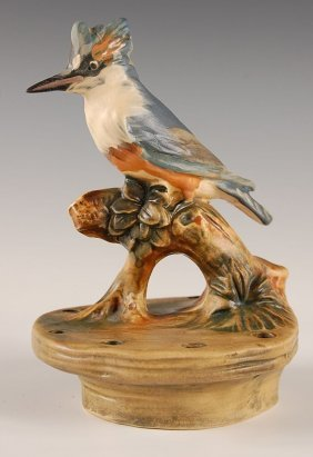 WELLER WOODCRAFT KINGFISHER FLORAL FROG