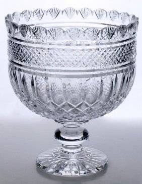 A Large Waterford Cut Crystal Punch Bowl