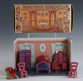Marx C.1920 'newlyweds Bedroom' Tin-litho Playset