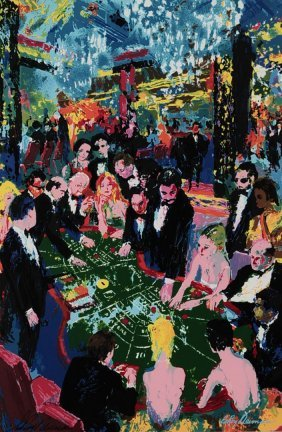 Leroy Neiman Signed Serigraph Titled 'baccarat 1994'