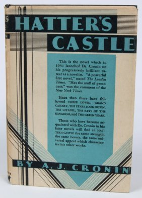 Cronin, A.j. 'hatter's Castle' Signed Presentation Copy