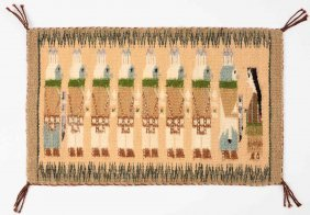 A Miniature Navajo Pictorial Weaving