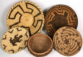 Pima, Papago And Pine Needle Indian Basketry