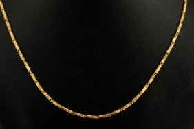 Fancy Solid Link Diamond Cut Chain Ofeered As Gold