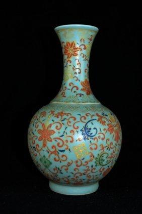 Chinese Qing Porcelain Wucai Vase