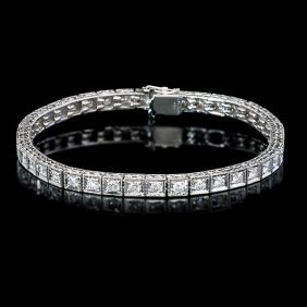 14k Gold Natural 2.50ct G Vs Diamond Bracelet