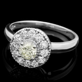 14k White Gold .9ct Diamond Ring