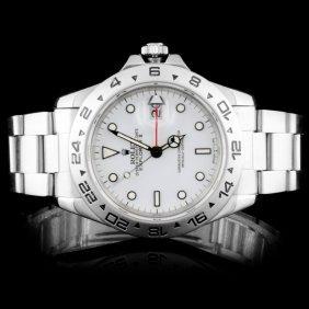 Rolex Ss Explorer Ii Oyster Men's Watch