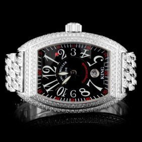 Frank Muller Conquistador 15.00ctw Diamond Watch