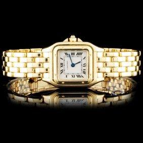 18k Yg Cartier Panthere Ladies Watch