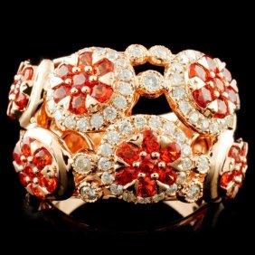 14k Gold 2.13ctw Sapphire & 0.78ctw Diamond Ring