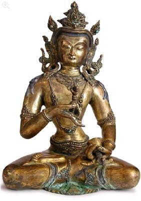 Tibetan Gilt Bronze Buddha Figure