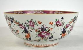 18th Cen Chinese Floral Export Bowl