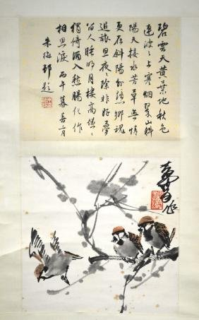 Huang, Zhou Hand Painted Chinese Painting Scroll