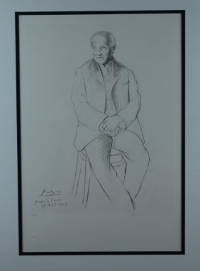 "Pablo Picasso, ""Self Portrait"", Signed Lithograph"