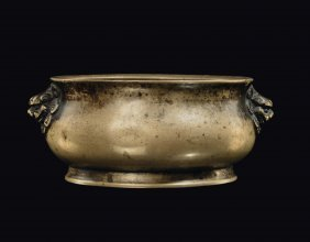 A Gilt Bronze Censer, China, Ming Dynasty, 17th