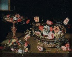 Jan Van Kessel (anversa 1626 - 1679), Ambito Di, Cesto