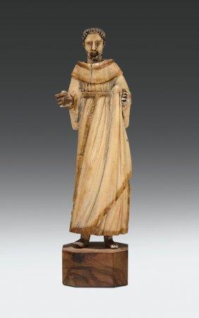 Figura Di San Francesco In Avorio, Arte