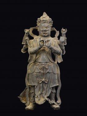 A Bronze Figure Of Six-harms Dvarapala, China, Ming
