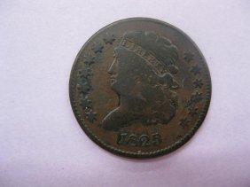 1825 U.S. Half Cent, Classic Head, Fine.