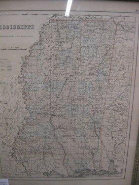 Georgia & MIssissippi Maps, Mid 19th