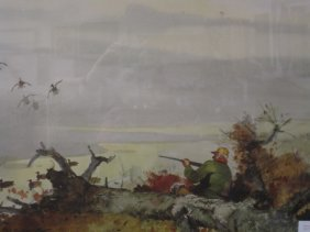 Roy M. Mason, Print, Duck Hunter In