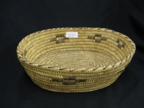 "Indian ""Rattlesnake"" Basket,"