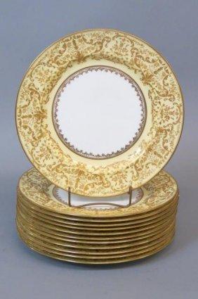 12 Doulton Burslem Porcelain Dinner Plates,