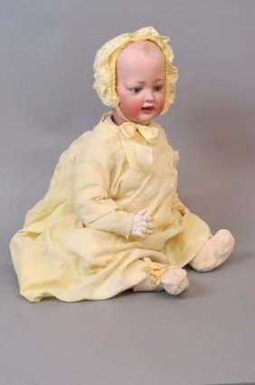 Kley & Hahn German Bisque Head Character Baby Doll,